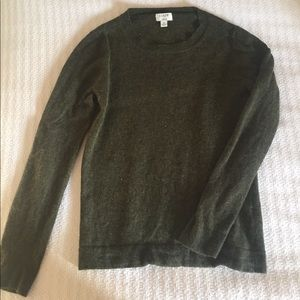 J Crew Cotton-wool Teddie sweater dark green